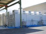 茨城県県北家畜保険衛生所 マイナス10℃で保管される冷凍保管庫に、 遮熱・断熱効果と保冷効果そして 結露防止効果を目的に塗布
