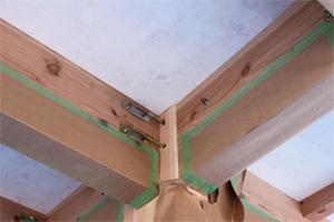 """ムク板の下板や天井裏板に塗った """"SE40インケア"""" からの酵素イオン交換・酸化防止効果"""