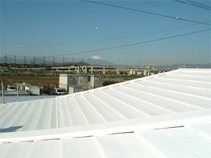 屋根にSE40を塗布