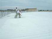折板鋼板屋根の塗装面と未塗装面の比較事例