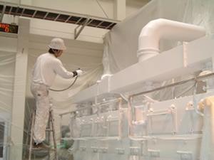配管設備に塗布
