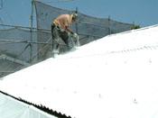 ケレン、高圧洗浄、下地処理、CC100ガン吹き施工