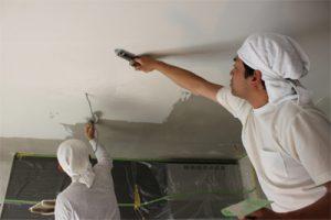 内壁面の仕上げは天然ホタテのシェルファンデ